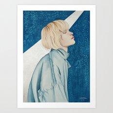 Blue Jeans Art Print