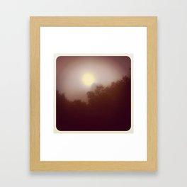Foggy Autumn Morning Framed Art Print