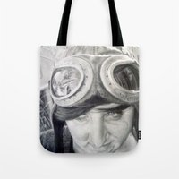 aviation Tote Bags featuring Aviation Dreams by Arden Jenner