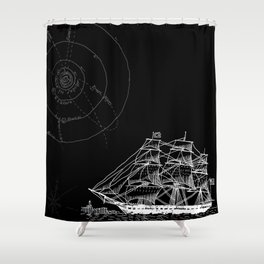 If Time Is My Vessel Shower Curtain