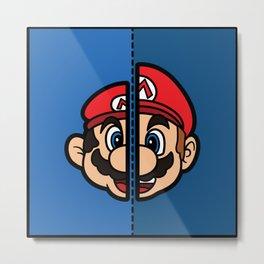 Old & New Mario Metal Print