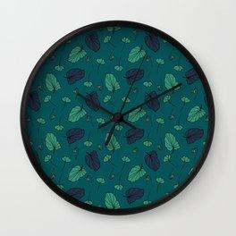 Autumn Fall Art Print Pattern kids room Wall Clock