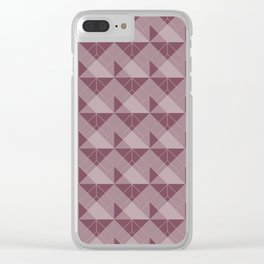 Simple Geometric Pattern 1in Mulberry Clear iPhone Case