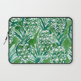 DEM PINEAPPLES Green Tropical Laptop Sleeve