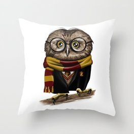 Owly Wizard Throw Pillow