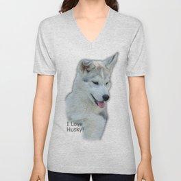 Husky puppy Unisex V-Neck