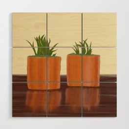 Succulents Wood Wall Art