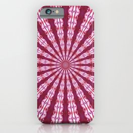 LATE SUMMER PINK DAHLIA ABSTRACT KALEIDOSCOPIC MANDALA iPhone Case