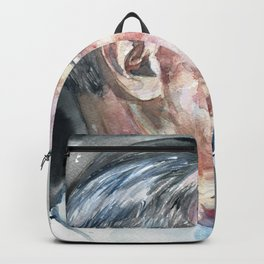 JAMES JOYCE - watercolor portrait Backpack