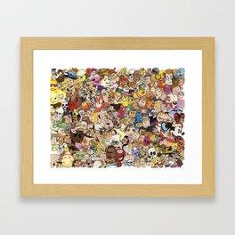 Cartoon Collage Framed Art Print
