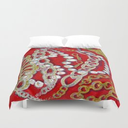 Pearls, Chains, & Cupid Duvet Cover