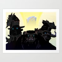 shadow of the colossus Art Prints featuring Shadow of the Colossus by Bringerzl