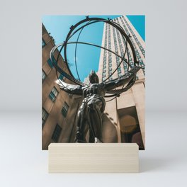 Rockefeller Man / New York City Mini Art Print
