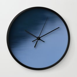 The Soft Blue Hour Before Dawn at the Lake Wall Clock