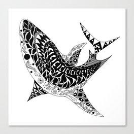 Mr Shark ecopop Canvas Print