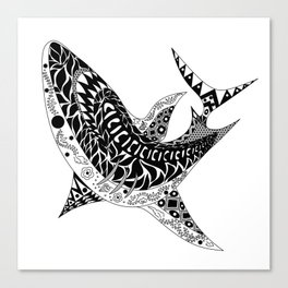 Mr Shark ecopop Canvas Print