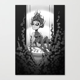 Ghost On A Shell - B&W Canvas Print