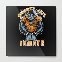 County Jail Inmate Metal Print