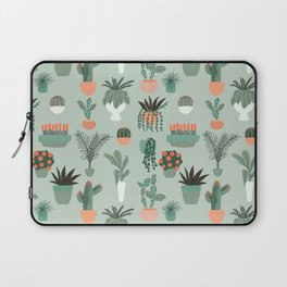 Houseplants Pattern 01 Laptop Sleeve