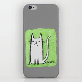 Nope Kitty iPhone Skin