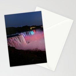 Niagara Falls Illumination Purple Stationery Cards