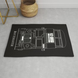 The Routemaster London Bus Blueprint Rug