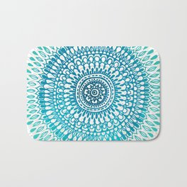 Radiate in Teal + Emerald Bath Mat