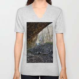Alone in Secret Hollow with the Caves, Cascades, Critters, No. 14 of 21 Unisex V-Neck