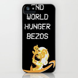 End World Hunger iPhone Case