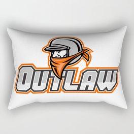Outlaw Biker Mascot Rectangular Pillow