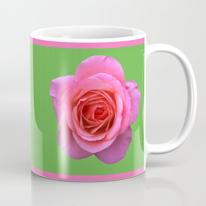 bed of roses: hot pink, neon green Coffee Mug