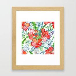 Summer tropical flowers Framed Art Print