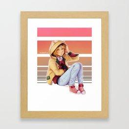 Cute Cat Hoodie Kenma Framed Art Print