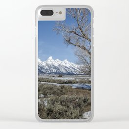 Grand Tetons from Gros Ventre Clear iPhone Case