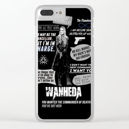 Clarke Griffin - Quotes The 100 Clear iPhone Case