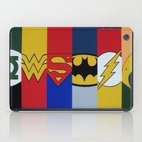 justice league iPad Cases featuring Justice Logo's by iankingart