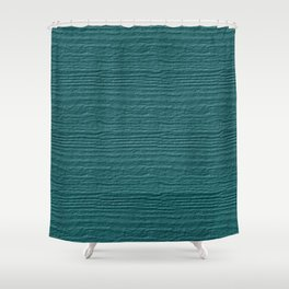 Teal Wood Grain Color Accent Shower Curtain