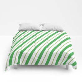Green Peppermint - Christmas Illustration Comforters