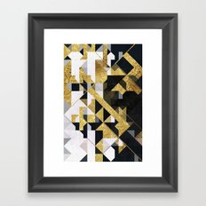 gold lyyfd Framed Art Print