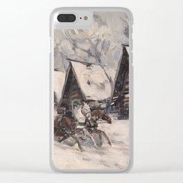 KOROVIN, KONSTANTIN (1861-1939) Winter Landscape Clear iPhone Case