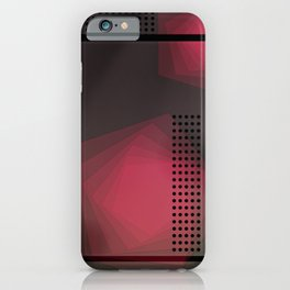 Geometric linear blue minimal iPhone Case