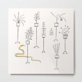 Plants, snake and rum. Metal Print
