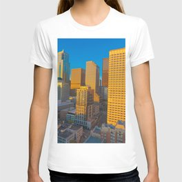 Downtown Seattle Skyline at Sunset 2 T-shirt