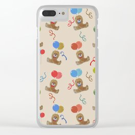 Teddy and Balloons Clear iPhone Case