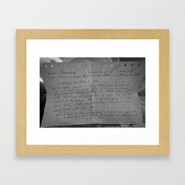 A Call for Charity Framed Art Print