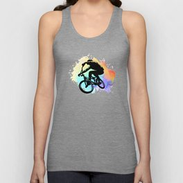 Bike bmx mbt mountain biker gift idea Unisex Tank Top