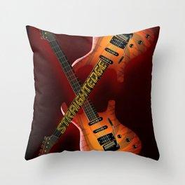 Straight Edge Throw Pillow