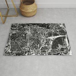 New Delhi map black&white Rug