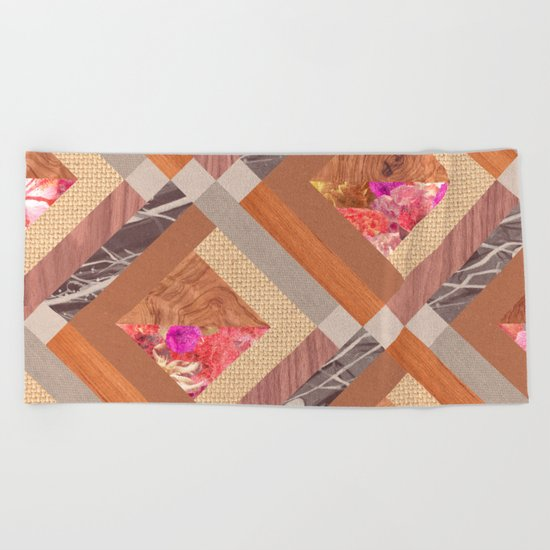 Cubed Beach Towel