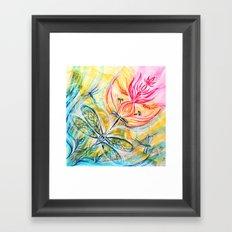 Yellow Fire Spirits Framed Art Print